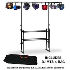 american audio dj mts 4 4ft adjule mobile dj stand lighting bar adj bag