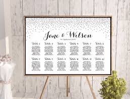 Baby Cakes Seating Chart Custom Horizontal Silver Glitter Find Your Seat Chart Th63