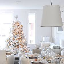 glam white tree with lights and gold ornaments