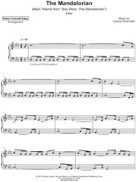 Print and download star wars: Piano Tutorial Easy Star Wars The Mandalorian Main Theme Sheet Music Piano Solo In C Minor Download Print Sku Mn0212912