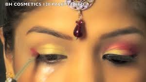 indian bridal wedding makeup tutorial gold red eye makeup for indian bride superprincessjo you