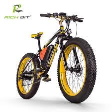 <b>RichBit Electric Bike</b> Powerful Fat Tire Electric Mountain Bike 48V ...