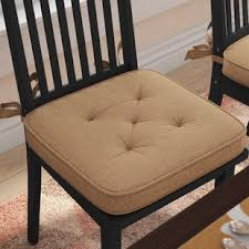 burlap dining chair cushion
