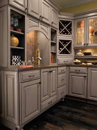 Decorative Kitchen Cabinets Interior Romantic Rustic Brown Wooden Countertop On Corner Your
