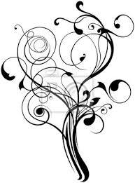 Fototapeta Ornament Květinové Tetování Baum
