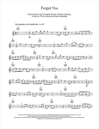 forget you piano sheet music forget you sheet music by cee lo green violin 114457