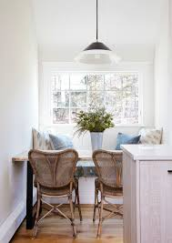 cozy dining nook with rattan chairs