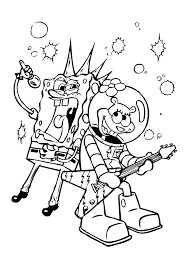 Spongebob Coloring Pages Online With Sing Hd Wallpaper Pictures To