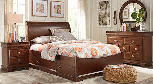 Oberon Cherry 5 Pc Full Sleigh Bedroom