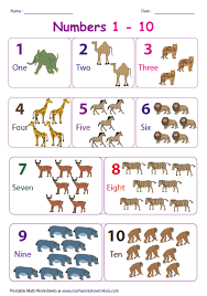 Number Chart For Toddlers Number Charts