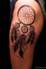 Dream Catcher Tattoo On Thigh Dreamcatcher Tattoos Tattoo Designs Tattoo Pictures 33