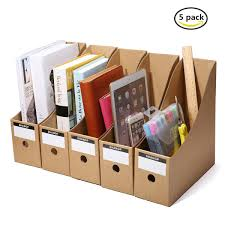 Cardboard Magazine Holder Caveen File Magazine Holder 100Pcs Pack Cardboard Magazine Rack 25