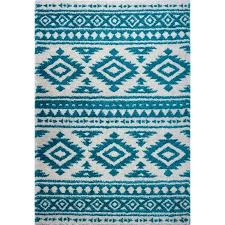 gray and white trellis area rug union rustic turquoise ivory