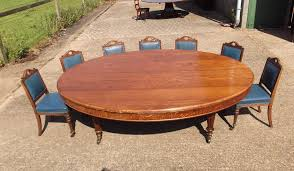 large oval antique dining table mid victorian oval formed oak table by howard sons to seat 12 people