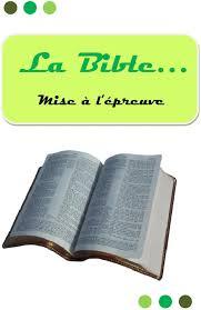 La Bible Mise à L épreuve Pdf