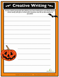 th grade halloween writing prompt worksheets com halloween story starters