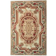 20th century aubusson rugs french style flat weave rug for