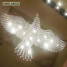 bird design chandelier large size bird design modern led crystal chandelier light large contemporary chandeliers hall lights eagle lighting in chandeliers
