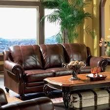 tri tone burdy leather sofa by