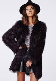 missguided cloe gy faux fur coat black
