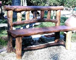 rustic outdoor bench with back this well constructed outdoor bench with wooden back makes for a