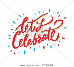 Celebrate Banner Lets Celebrate Vector Photo Free Trial Bigstock