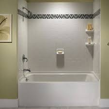 bathtub shower combo design ideas lovely 29 white subway tile tub surround ideas and pictures of