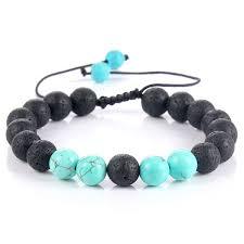 2019 <b>Natural Stone</b> Bracelet 8mm Blue <b>White</b> Turquoises Natural ...