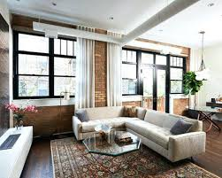 living room ideas remodeling photos houzz example of a mid sized urban open concept and formal dark wood floor and brown urban industrial wall decor