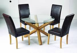 round glass and oak dining table set. top round glass dining table with oak legs club lpd oporto solid table. and set t