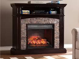 grantham wall corner infrared electric fireplace media cabinet in ebony fi9359