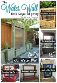 diy patio water wall outdoor remodel