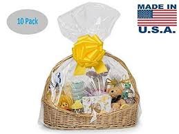 clear cellophane bags basket cello gift extra large 24in x 30in 10 pack ebay