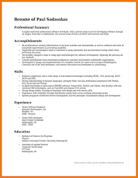 what is a summary on a resumes summary resume examples summary of accomplishments examples for