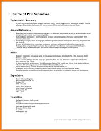 Summary Of Accomplishments Summary Resume Examples Summary Of Accomplishments Examples For 1