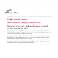 Example Of An Agreement Writing A Sponsorship Partnership Agreement Culturehive