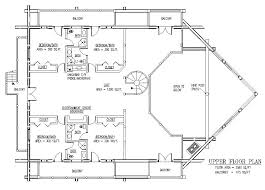 5000 square foot house plans plan funck m 6195 sq ft elevation main floor upper