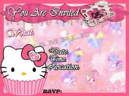 Hello Kitty Party Invitation Details About Hello Kitty Party Invitations With Matching Envelopes Birthday 12pack