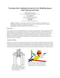 Solar Lighting System Design Pdf Tracking Solar Lighting System For Core Building Spaces