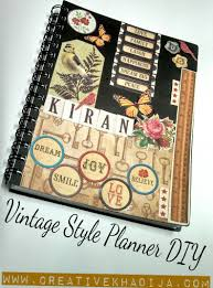 Diy Journal Cover Design Ideas Vintage Style Planner Decoupage Diy Diary Cover Design