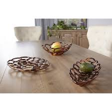 sagebrook home ceramic flat decorative tray bronze