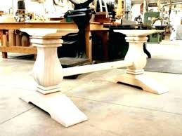 diy dining table base for glass top round wood pedestal only kitchen delightful