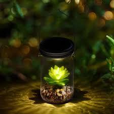 Diy Solar Lights In Mason Jars Amazon Com Wpotee Solar Powered Lantern Mason Jar Solar
