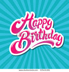 happy birthday design happy birthday hand drawn vector lettering stock vector 575431381
