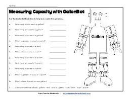 Conversion Cups To Gallons Chart W13 Gallonbot Capacity Worksheets Gallons Quarts Pints