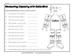 W13 Gallonbot Capacity Worksheets Gallons Quarts Pints