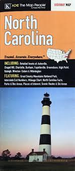 Interstate Mileage Chart North Carolina By Adc Folding Travel Map