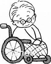 車椅子 おばあさんイラストなら小学校幼稚園向け保育園向け自治