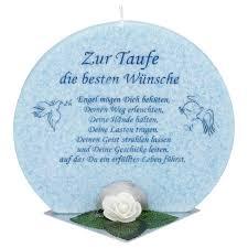 Geschenkskerze Zur Taufe Blau Mit Spruch Kerzen Zum Bestpreis Bei