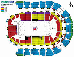 Seating Chart For Spokane Arena Blues In San Francisco With